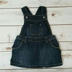 Denim overall Dress  (toddler)